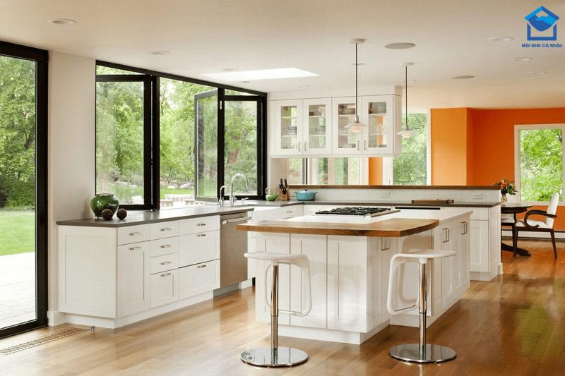Dù diện tích bếp lớn hay bé cũng không nên đặt bếp nấu gần bồn rửa